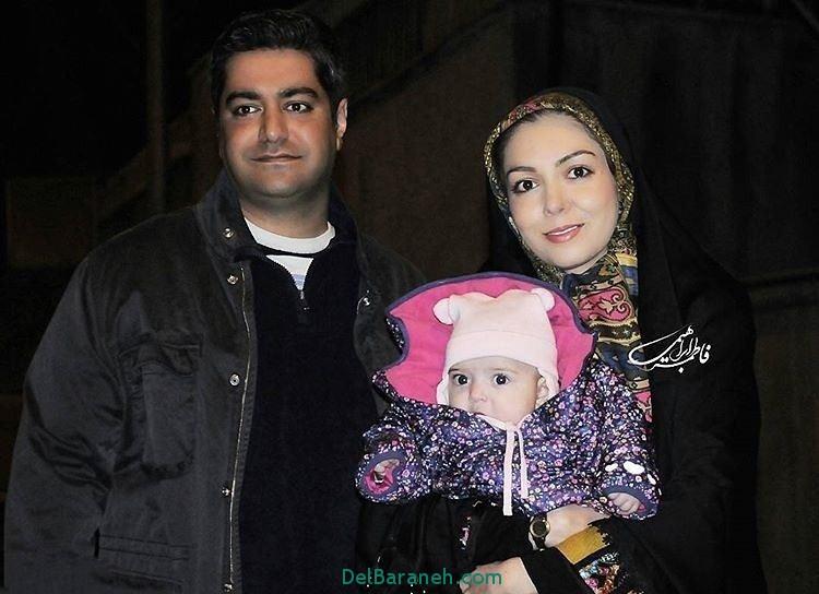 آزاده نامداری و همسرش و دخترش در جشنواره فیلم فجر 95+عکس