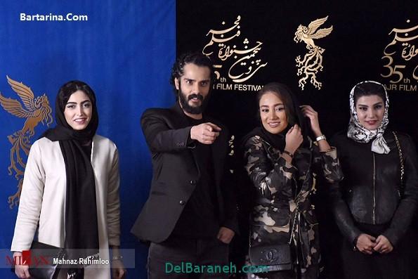 مدل مانتو ارتشی بهاره افشاری در جشنواره فیلم فجر 95