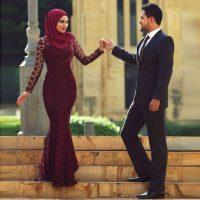 مدل لباس نامزدی پوشیده | مدل های زیبای لباس برای عروسان محجبه ۲۰۱۸