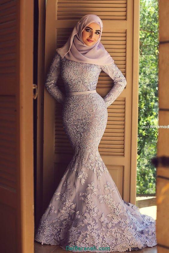 مدل لباس نامزدی پوشیده عروسان محجبه 2017