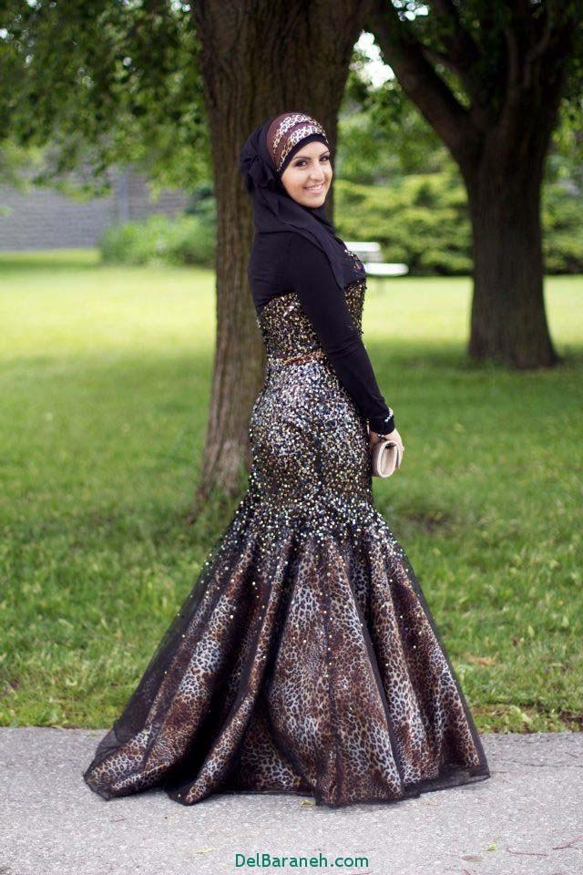 مدل لباس نامزدی بلند و پوشیده عروسان محجبه 2017