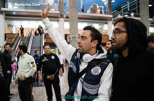 عکس سلفی با ژاوی بازیکن تیم السد قطر در تهران ایران
