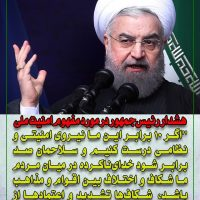 هشدار حسن روحانی در مورد مفهوم امنیت ملی