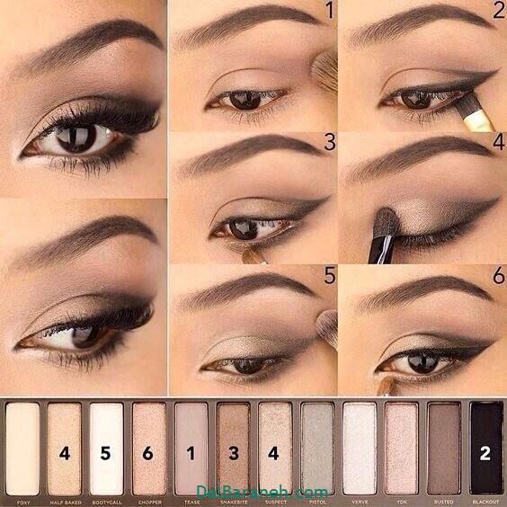 آرایش چشم مرحله به مرحله (۱۸)
