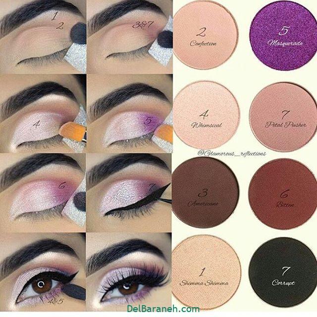 آرایش چشم مرحله به مرحله (۱۹)