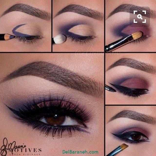 آرایش چشم مرحله به مرحله (۸)
