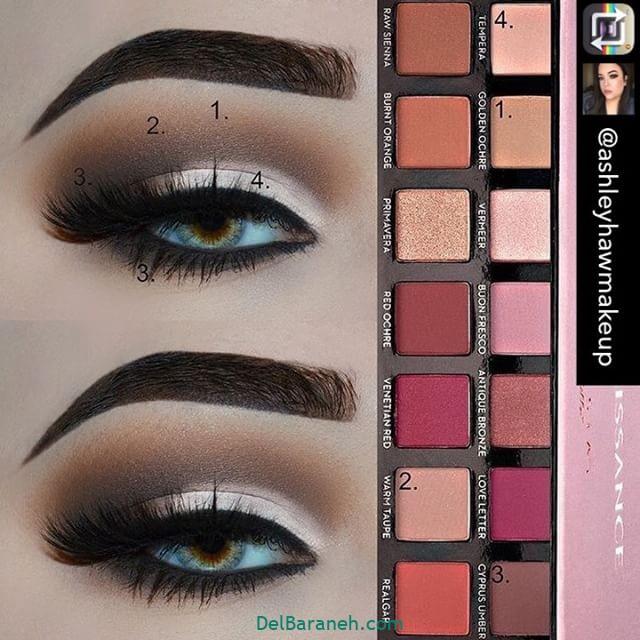 آرایش چشم مرحله به مرحله (۹)