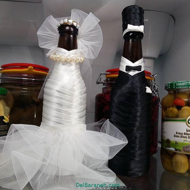 مدل تزئین یخچال عروس (1)