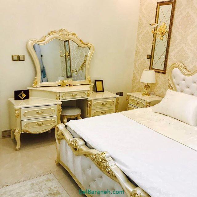 مدل جهیزیه ایرانی با ترکیب رنگ قرمز طلایی و سفید