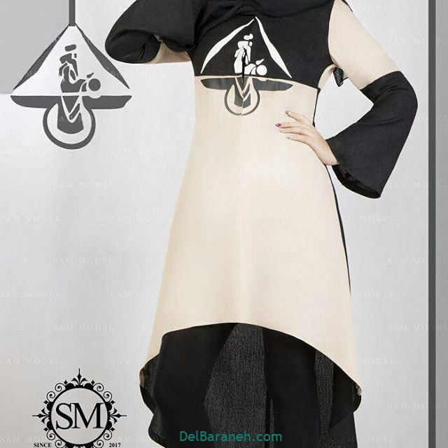 مدل مانتو برش دار دخترانه با طرح های خاص مناسب دانشگاه 97