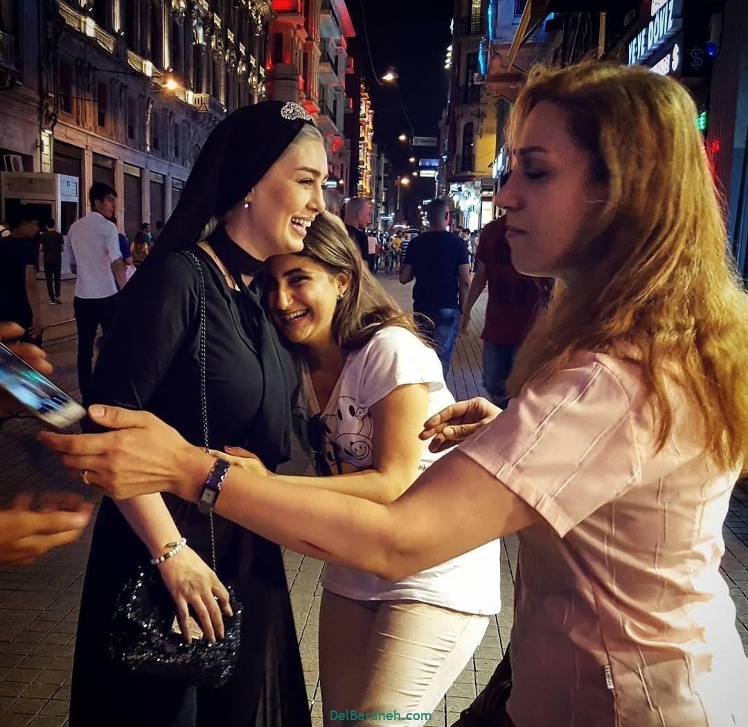 عکس های سحر قریشی در ترکیه