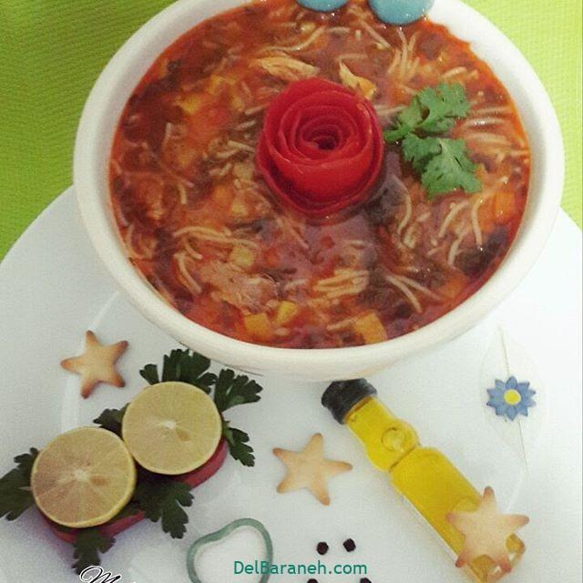 انواع سوپ تزیین سوپ (۱۶)