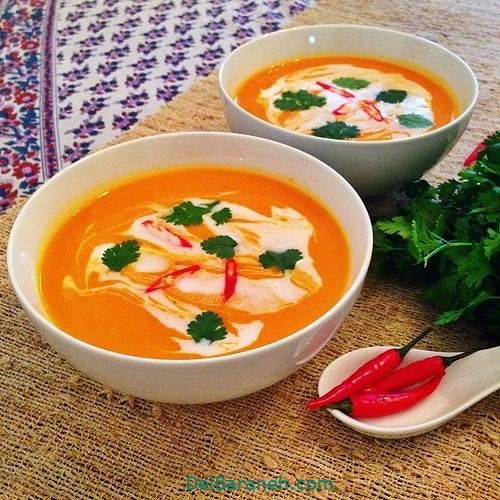 انواع سوپ تزیین سوپ (۲۵)