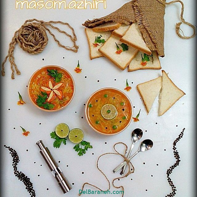 انواع سوپ تزیین سوپ (۲۶)
