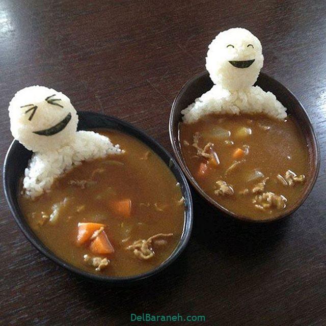 انواع سوپ تزیین سوپ (۳)
