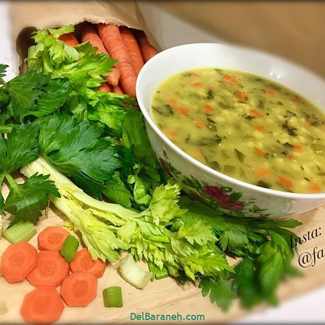 انواع سوپ تزیین سوپ (۳۶)