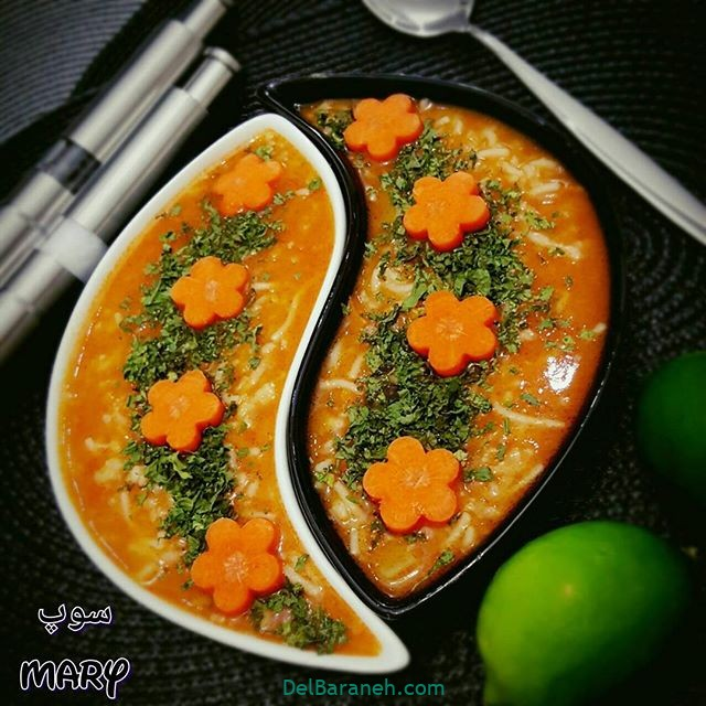 انواع سوپ تزیین سوپ (۴۳)