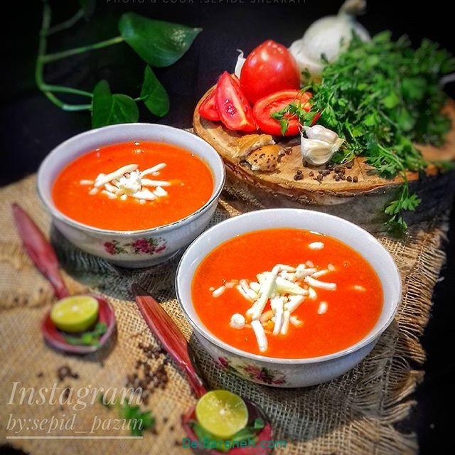 انواع سوپ تزیین سوپ (۶۱)