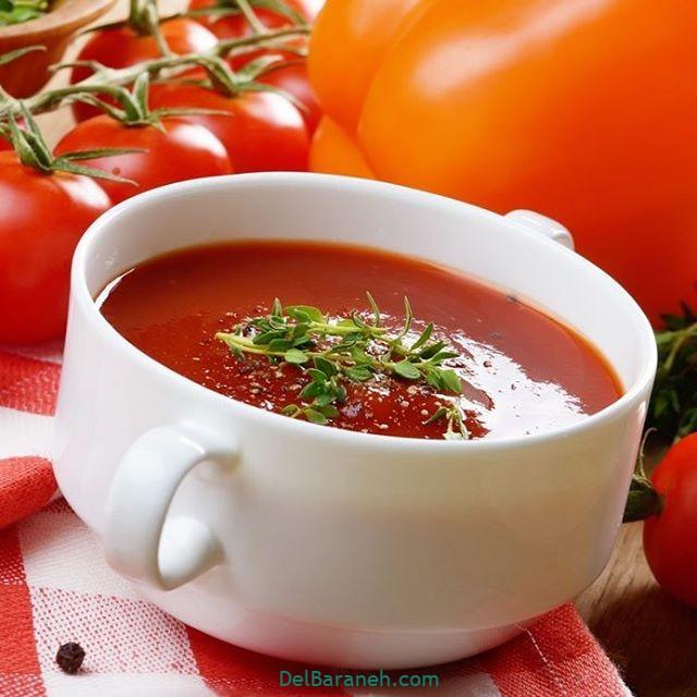 انواع سوپ تزیین سوپ (۶۴)