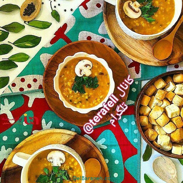 انواع سوپ تزیین سوپ (۸۵)