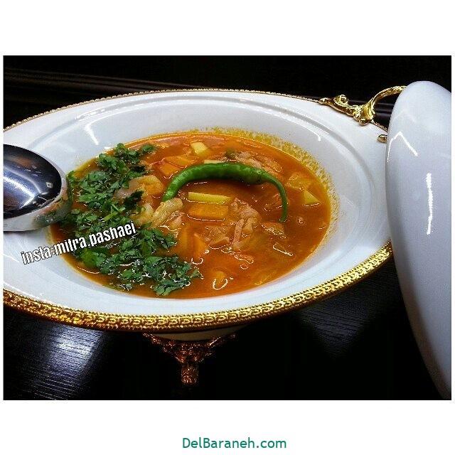 انواع سوپ تزیین سوپ (۹۰)
