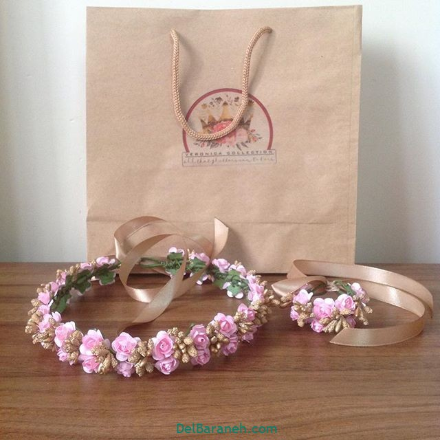 تاج گل عروس گل طبیعی مصنوعی (۱۴)