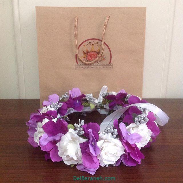 تاج گل عروس گل طبیعی مصنوعی (۱۵)