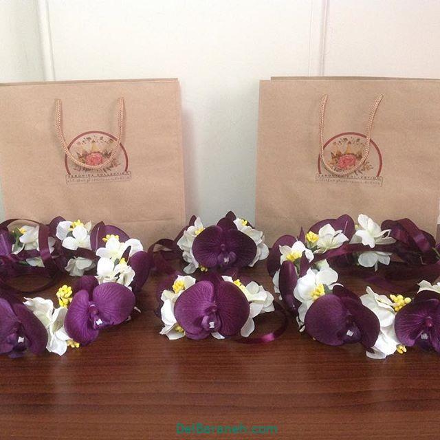تاج گل عروس گل طبیعی مصنوعی (۱۶)