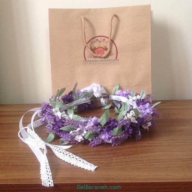 تاج گل عروس گل طبیعی مصنوعی (۱۸)