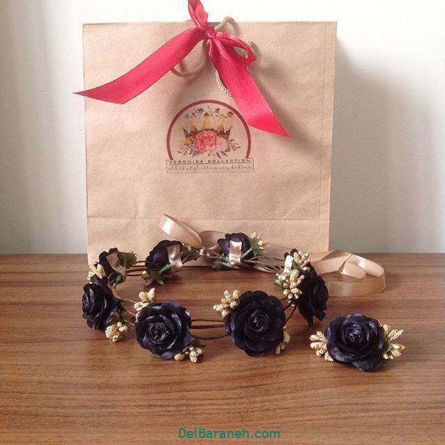 تاج گل عروس گل طبیعی مصنوعی (۱۹)