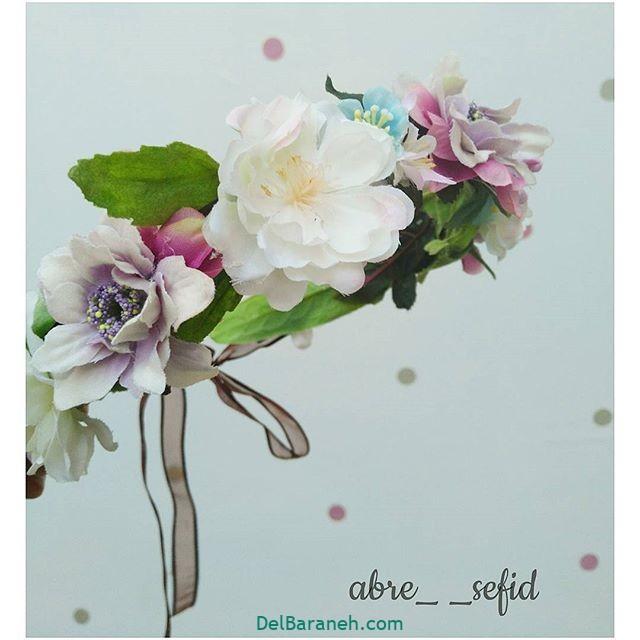 تاج گل عروس گل طبیعی مصنوعی (۲)
