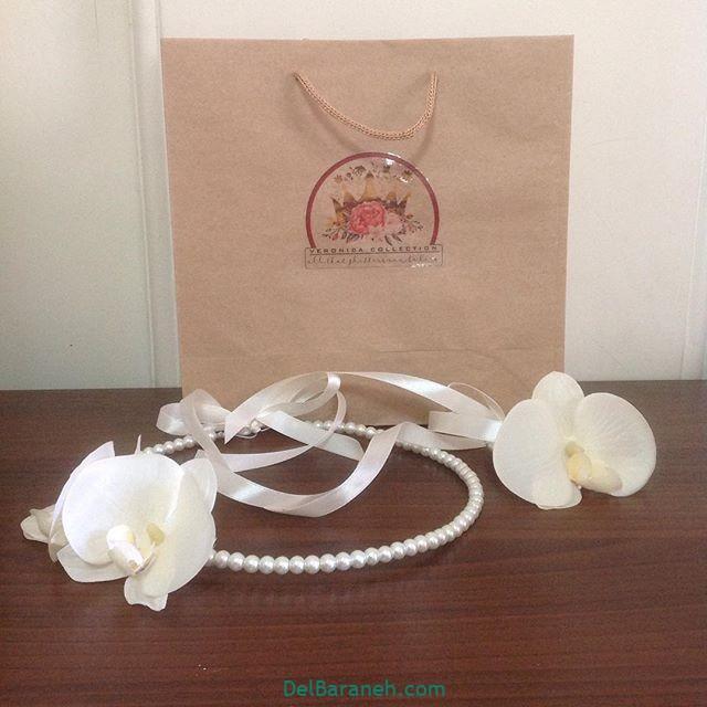تاج گل عروس گل طبیعی مصنوعی (۲۰)