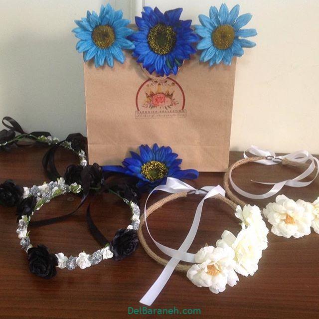 تاج گل عروس گل طبیعی مصنوعی (۲۲)