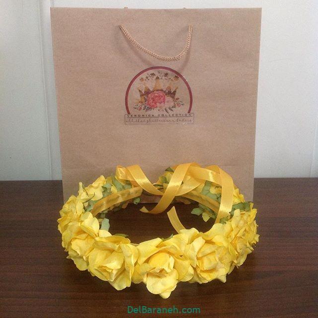 تاج گل عروس گل طبیعی مصنوعی (۲۳)