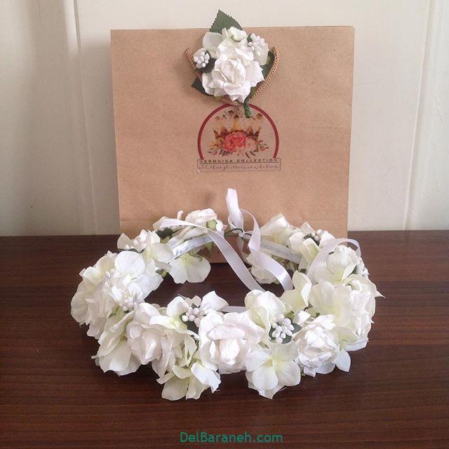 تاج گل عروس گل طبیعی مصنوعی (۲۶)