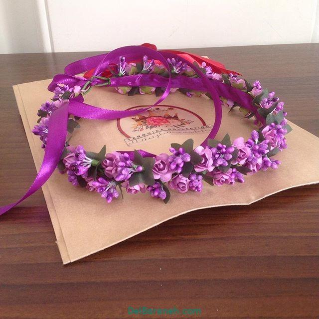 تاج گل عروس گل طبیعی مصنوعی (۲۸)
