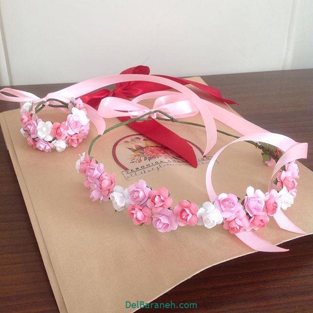 تاج گل عروس گل طبیعی مصنوعی (۲۹)
