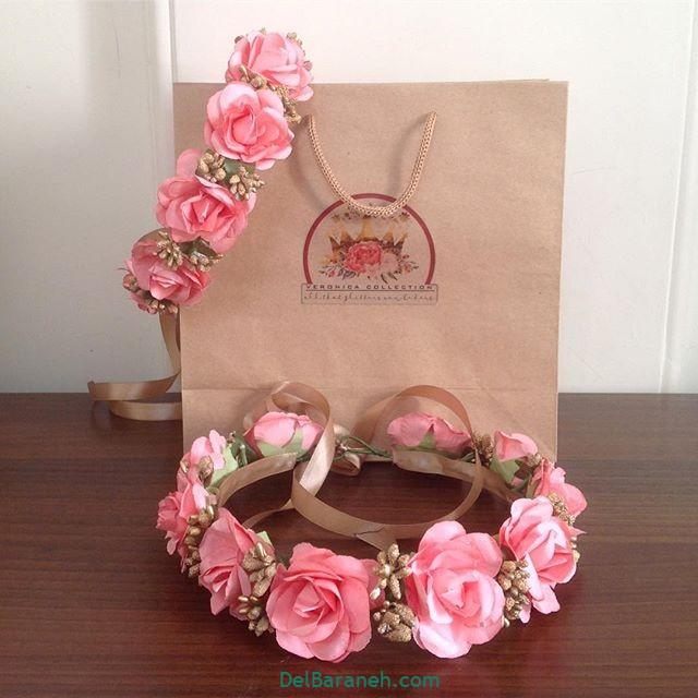 تاج گل عروس گل طبیعی مصنوعی (۳۰)