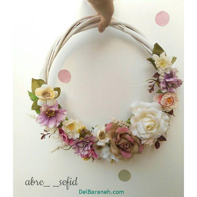 تاج گل عروس گل طبیعی مصنوعی (۴)