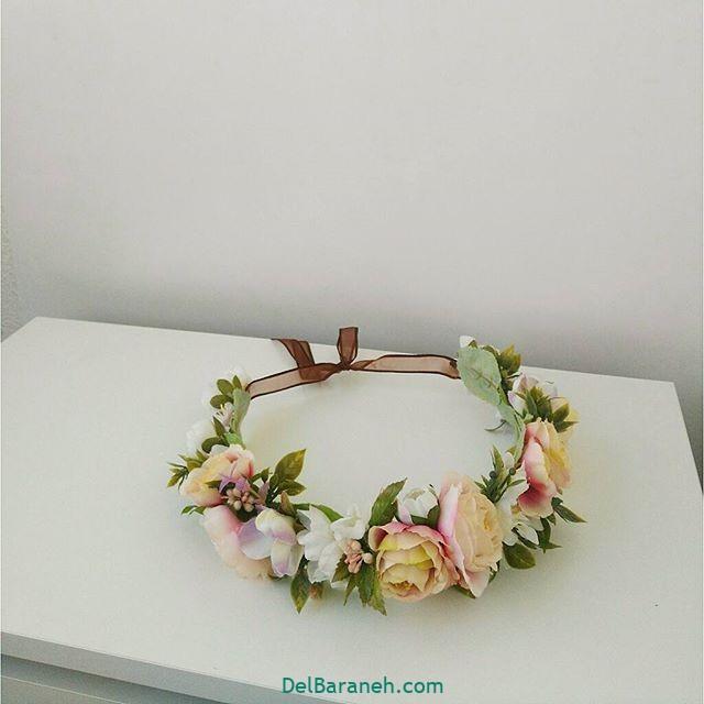تاج گل عروس گل طبیعی مصنوعی (۶)