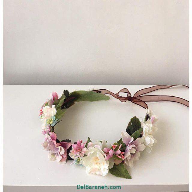 تاج گل عروس گل طبیعی مصنوعی (۷)