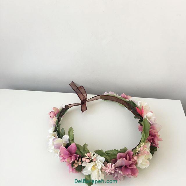 تاج گل عروس گل طبیعی مصنوعی (۸)