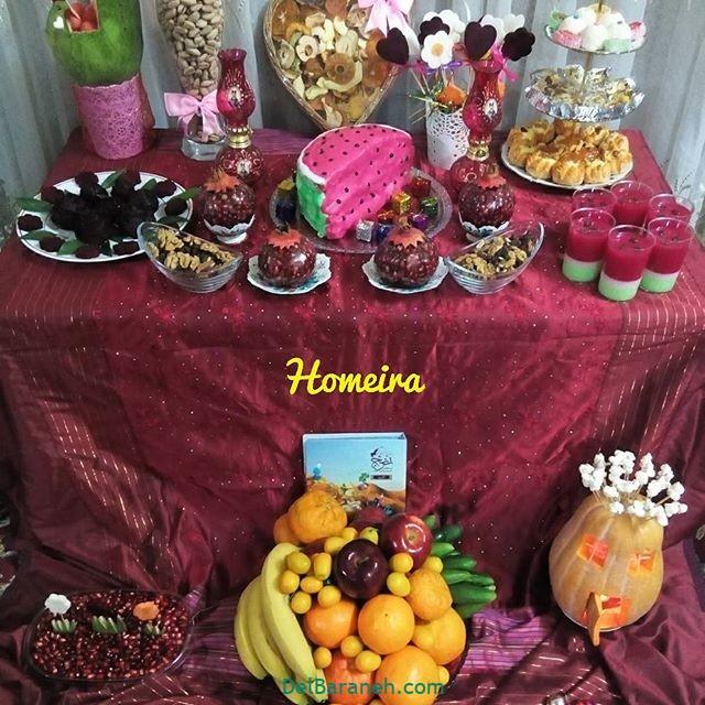 تزیین شب یلدا عروس (۱۴)