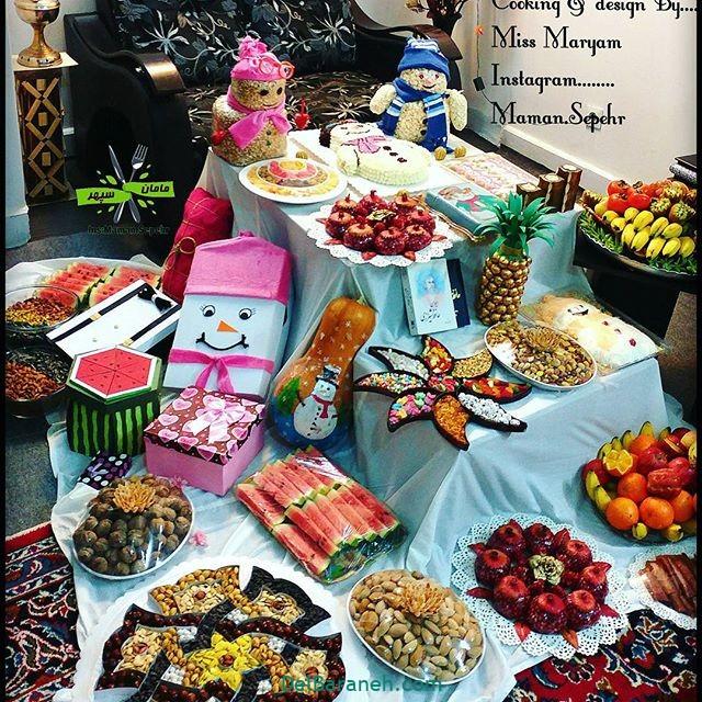 تزیین شب یلدا عروس (۸)