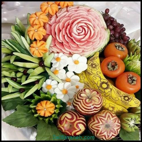 تزیین میوه شب چله (۳)
