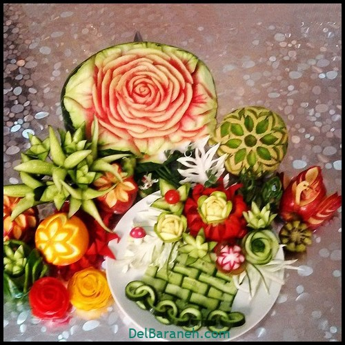 تزیین میوه شب یلدا (۱۰)