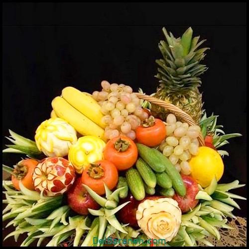 تزیین میوه شب یلدا (۴)
