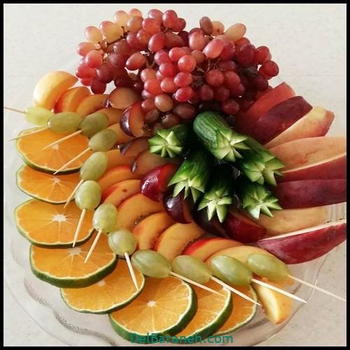 تزیین میوه شب یلدا (۵)
