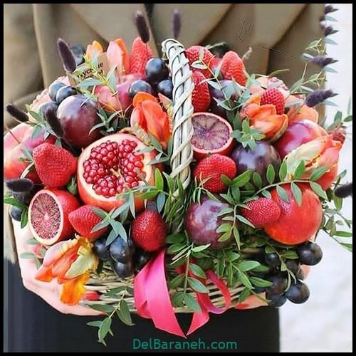 تزیین میوه شب یلدا (۶)
