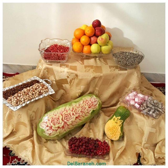 تزیین میوه یلدا (۲)